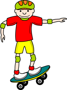 Skateboard clip 6 year old. Publicdomainvectors org vector drawing