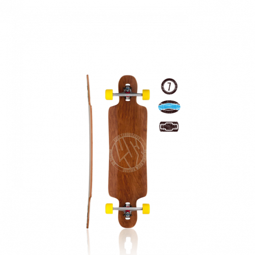 Drawing skateboard longboard. Reviews lush by skaters