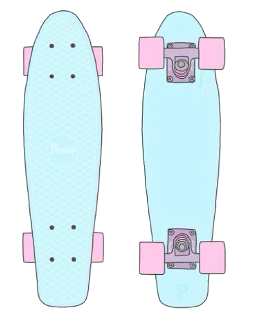 Drawing skateboard penny board. Le transprent png free