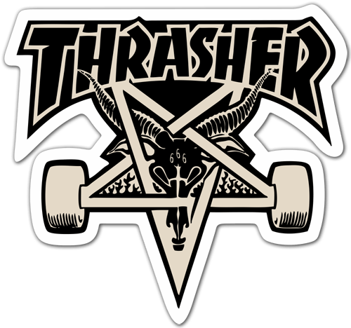 Drawing skateboard thrasher. Stickers skate png buscar