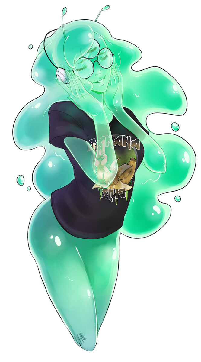 Drawing slime girl. My very first monster