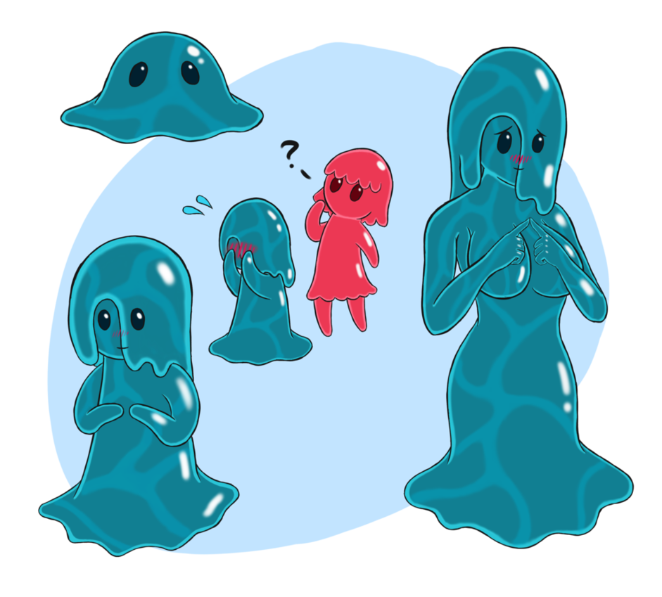 Drawing slime goo. Rancher puddle by gluttnousgamer