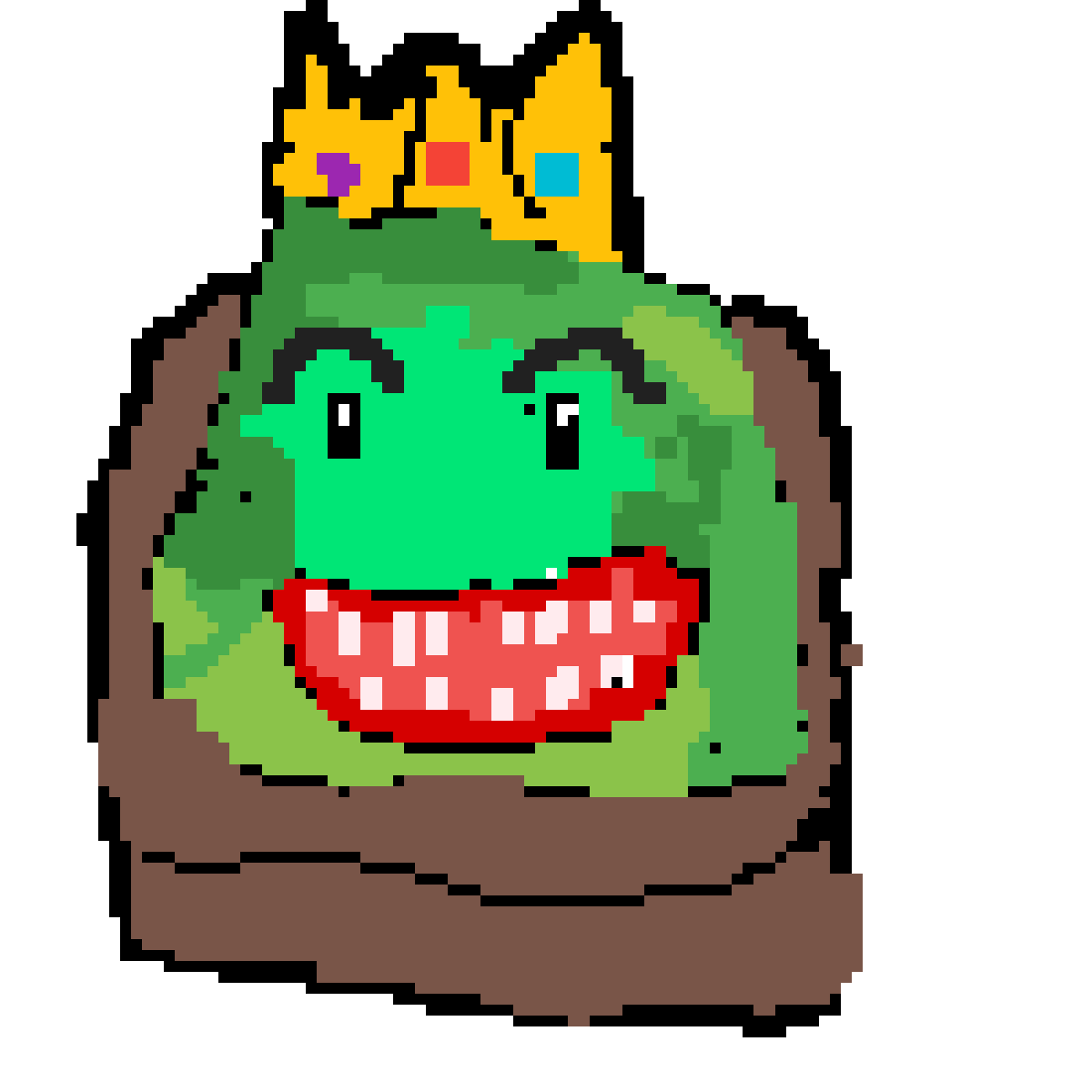 Drawing slime king. Pixilart by anonymous