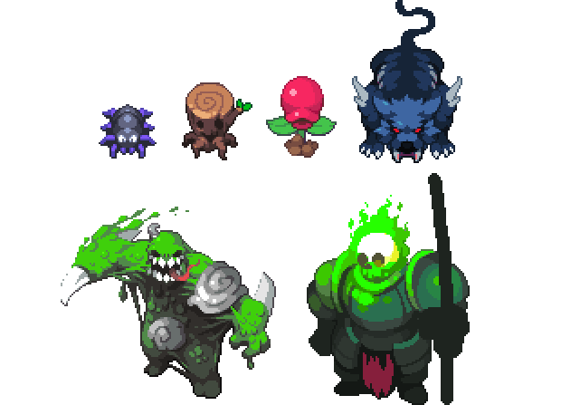 Drawing slime king. Spider torch eater ember