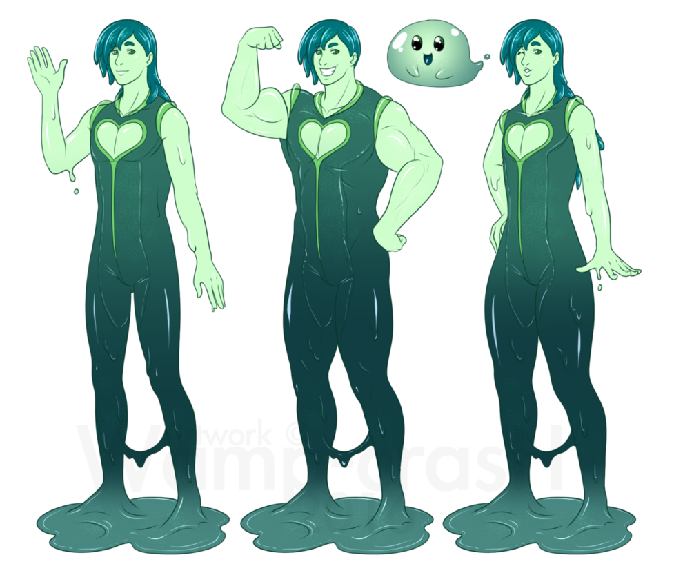 Drawing slime reference. Boy tem hol by