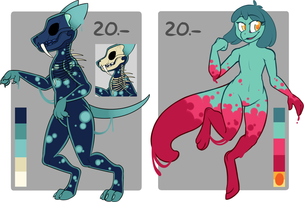 Drawing slime shade. Creature adoptables open by