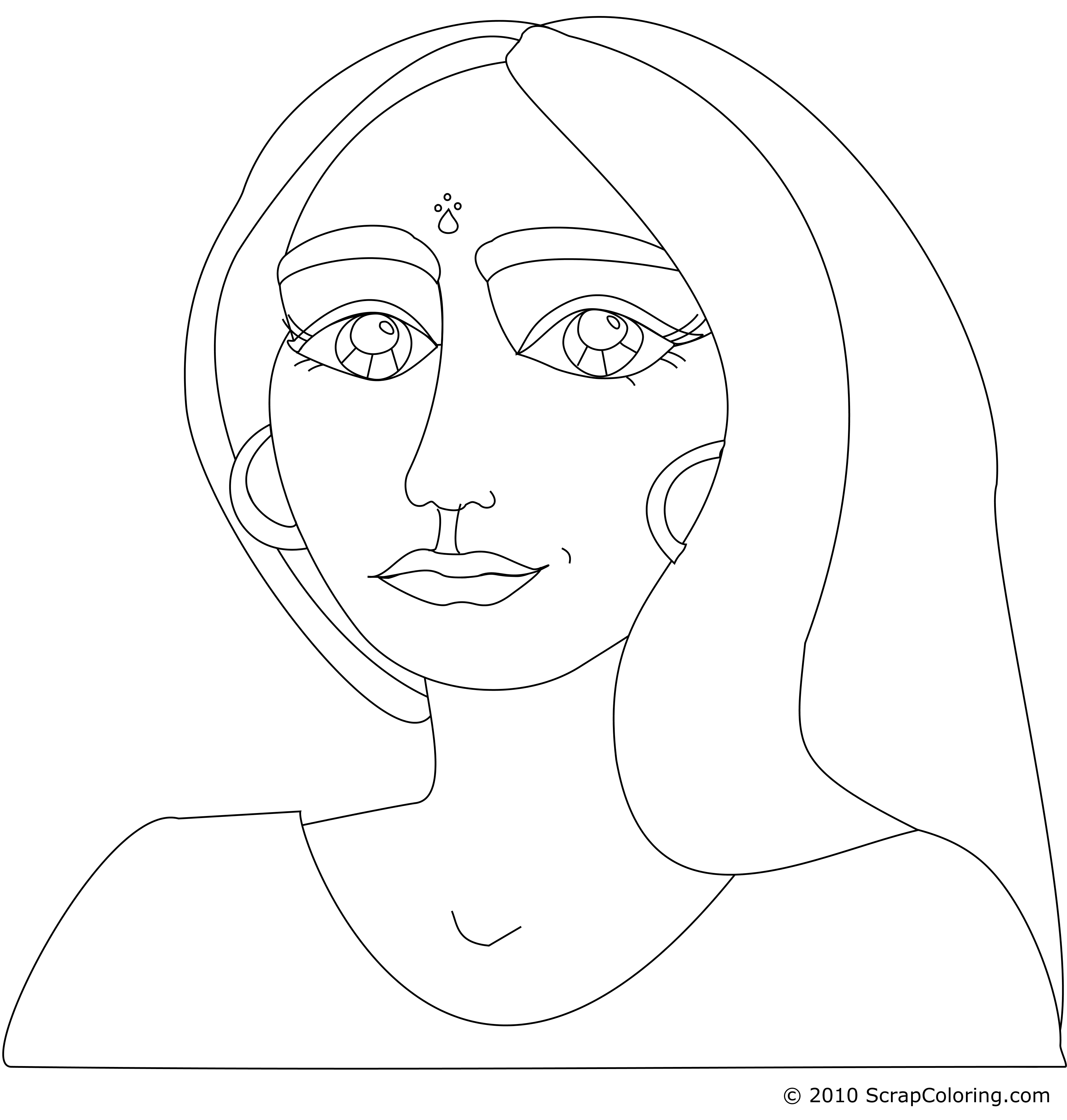 Drawing smirk female. Smiling face at getdrawings