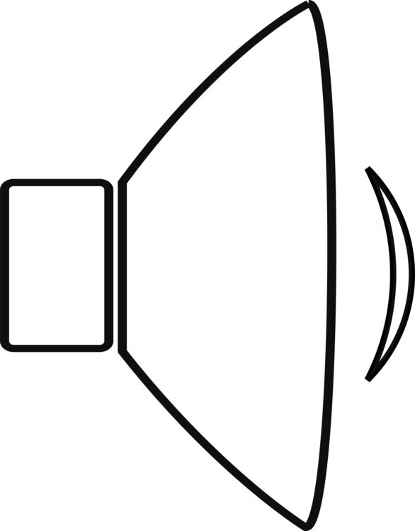 Computer icons loudspeaker black. Drawing sound clip library