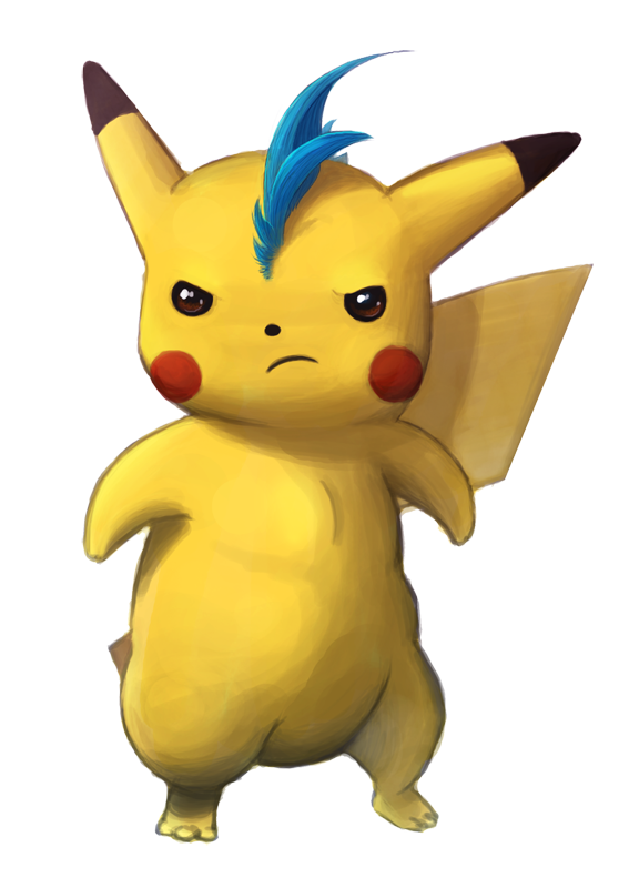 Drawing sounds pikachu. Blue mohawk by sleepyvoodle