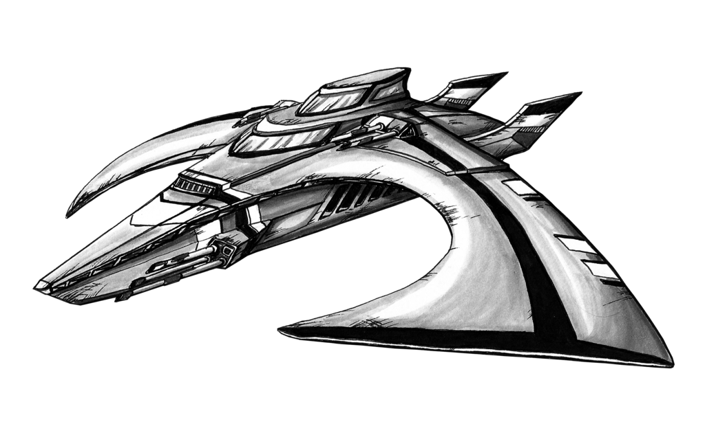 Spacecraft drawing pencil. Concept art sketch english