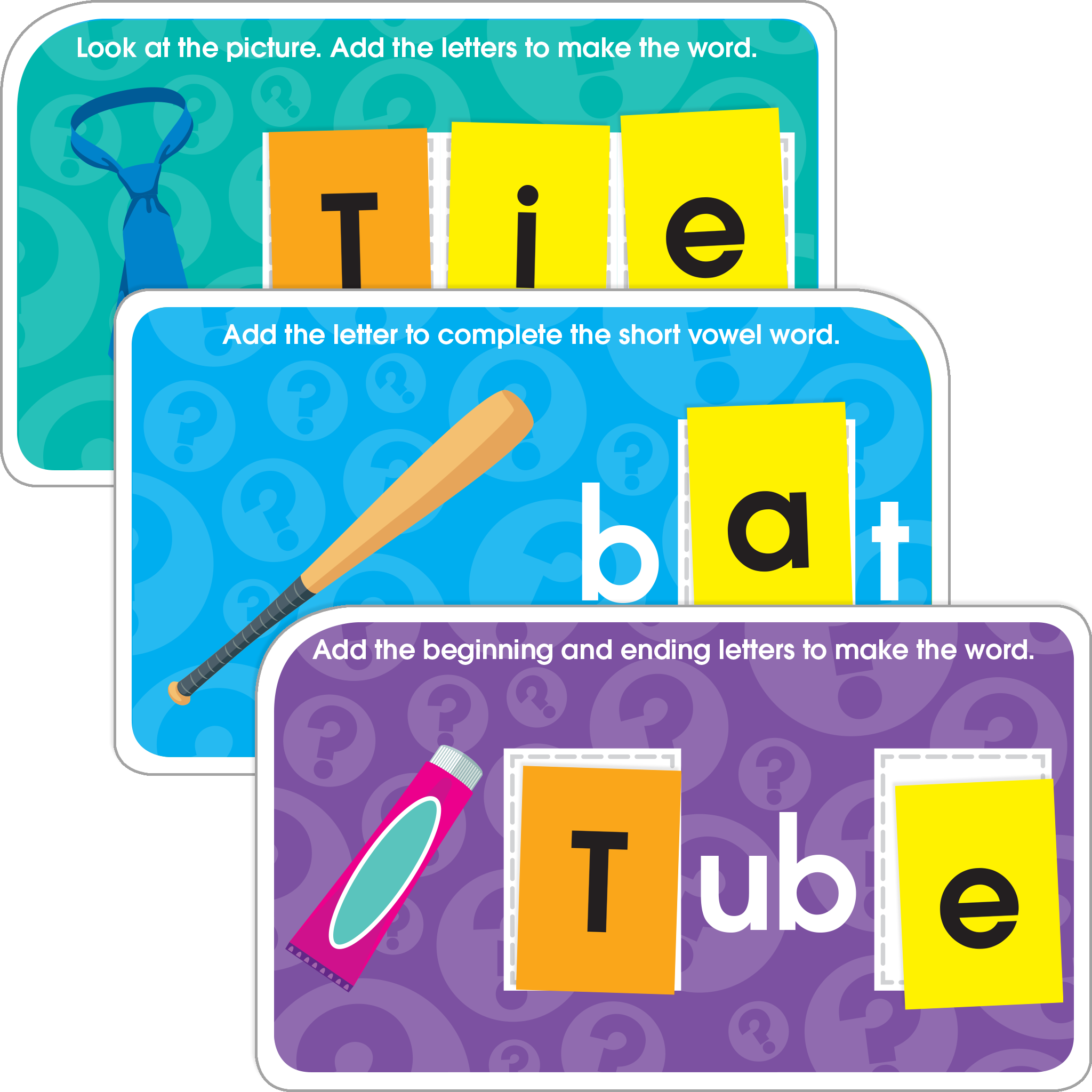 Drawing spelling word. Words learning set makes