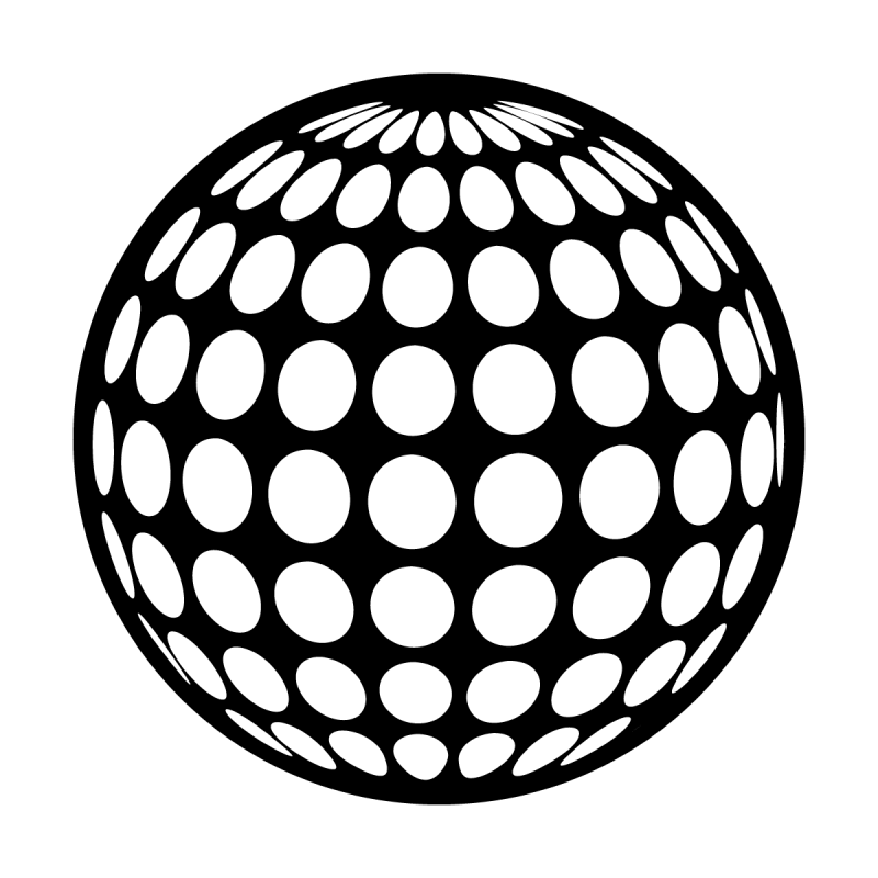 Drawing sphere black and white. Holey superresolution gobo apollo