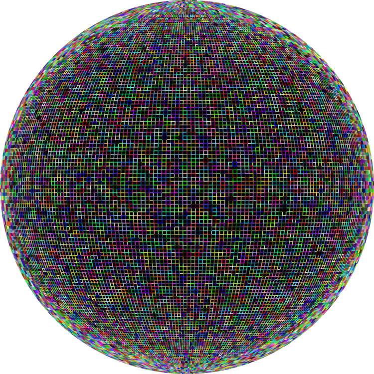 Transparent orb colored. Circle computer icons sphere