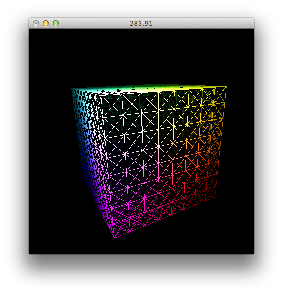 Drawing sphere cube. Deform a to of