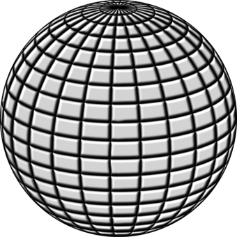 Drawing sphere grayscale. Disco ball free commercial
