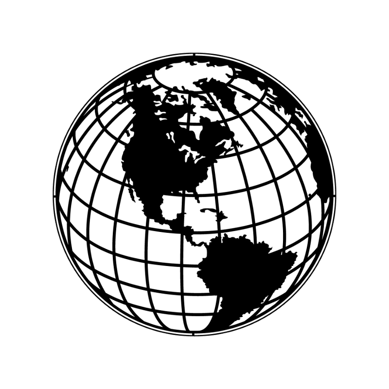 Apollo metal gobo globe. Drawing sphere lighted graphic free download