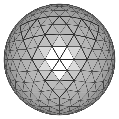 Drawing sphere shading. Opengl icosphere at subdivision