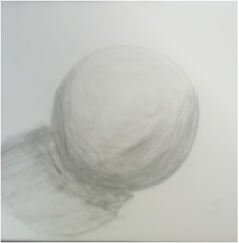 Drawing sphere still life. Value chae min lee