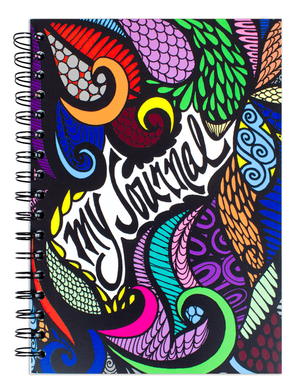 Drawing journals notebook. My journal colored spiral