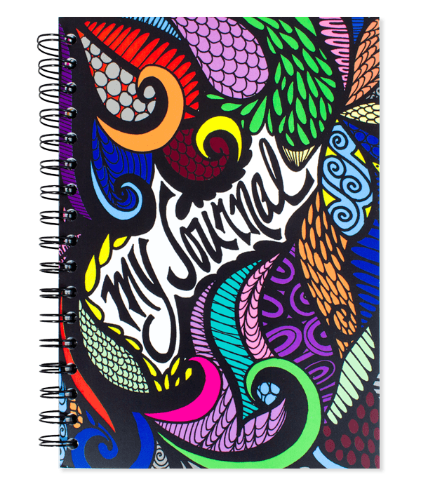 Drawing journals visual. My journal colored spiral