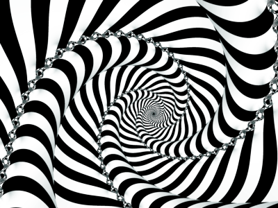 Drawing spiral illusion. Esl optical illusions black