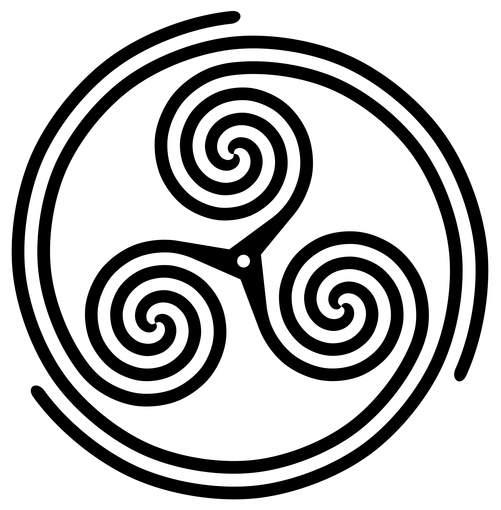 Drawing spiral japanese. File triskelion threespoked inspiral