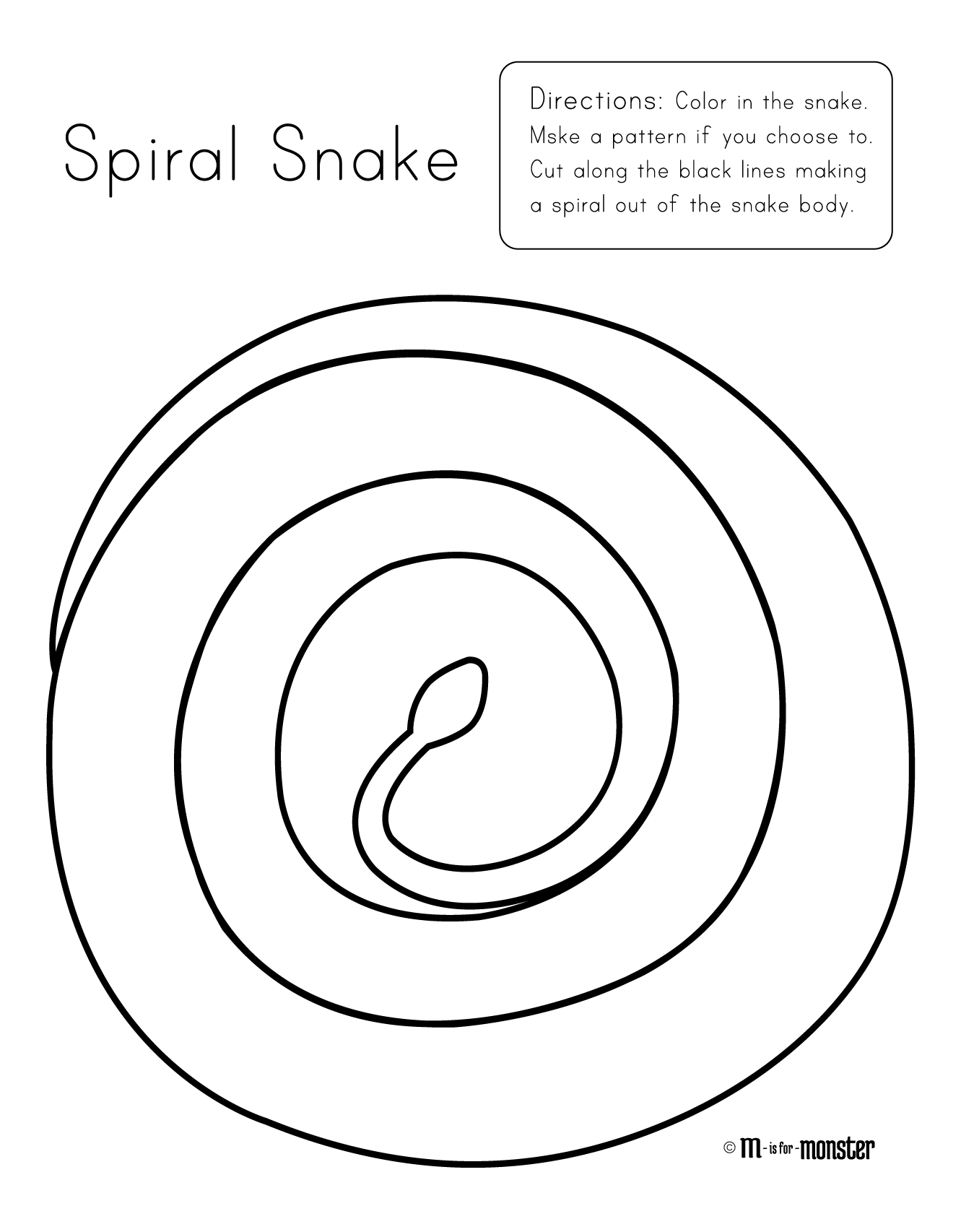 Snake m is for. Drawing spiral line banner freeuse download