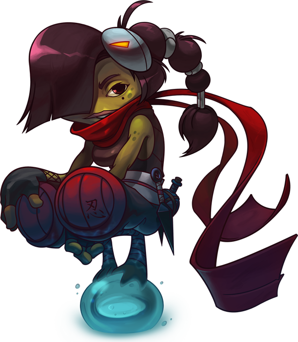 Drawing spirals dizzy. Awesomenauts is out now
