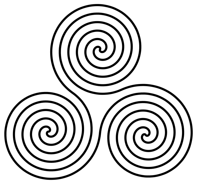 Drawing spirals meaning. The triple spiral symbol