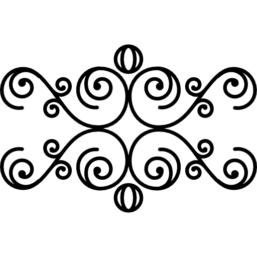 Drawing spirals psd. Floral design with icons