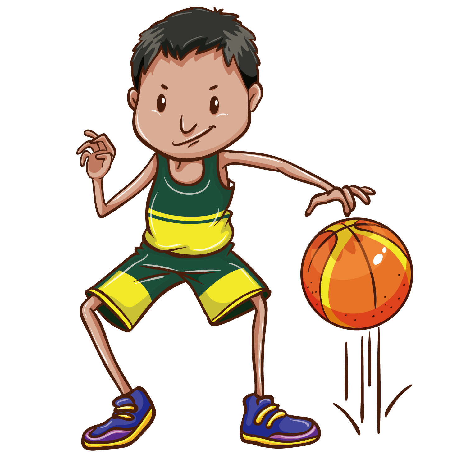 Drawing sport boys basketball. Clip art boy transprent