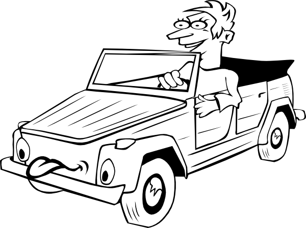 Vector sketches car. Sports drawing outline at