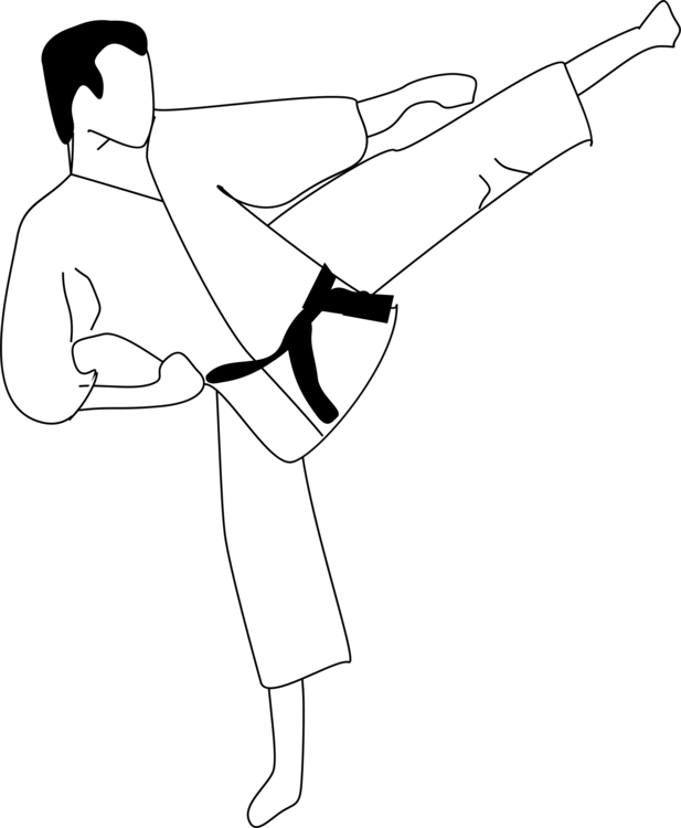 Drawing sport martial art. Coloring book colouring pages