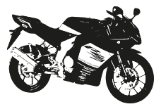 Drawing sport motorbike. Avon motorcycles scooters spares