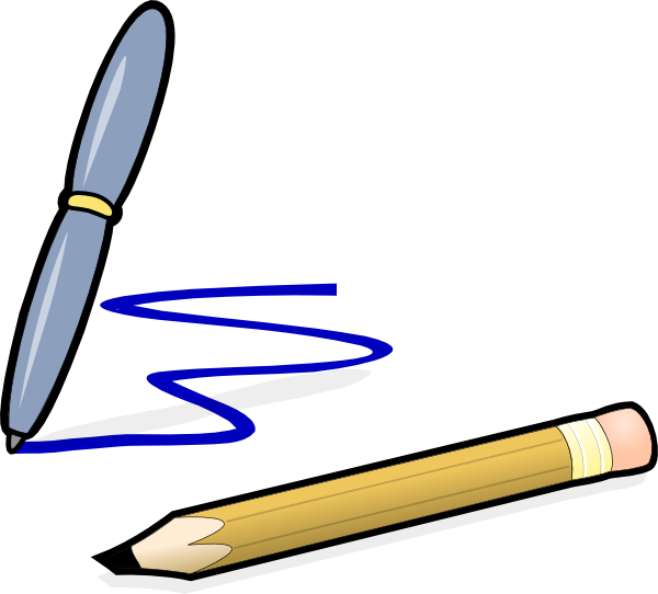 Drawing sports pen. The connection between pencil