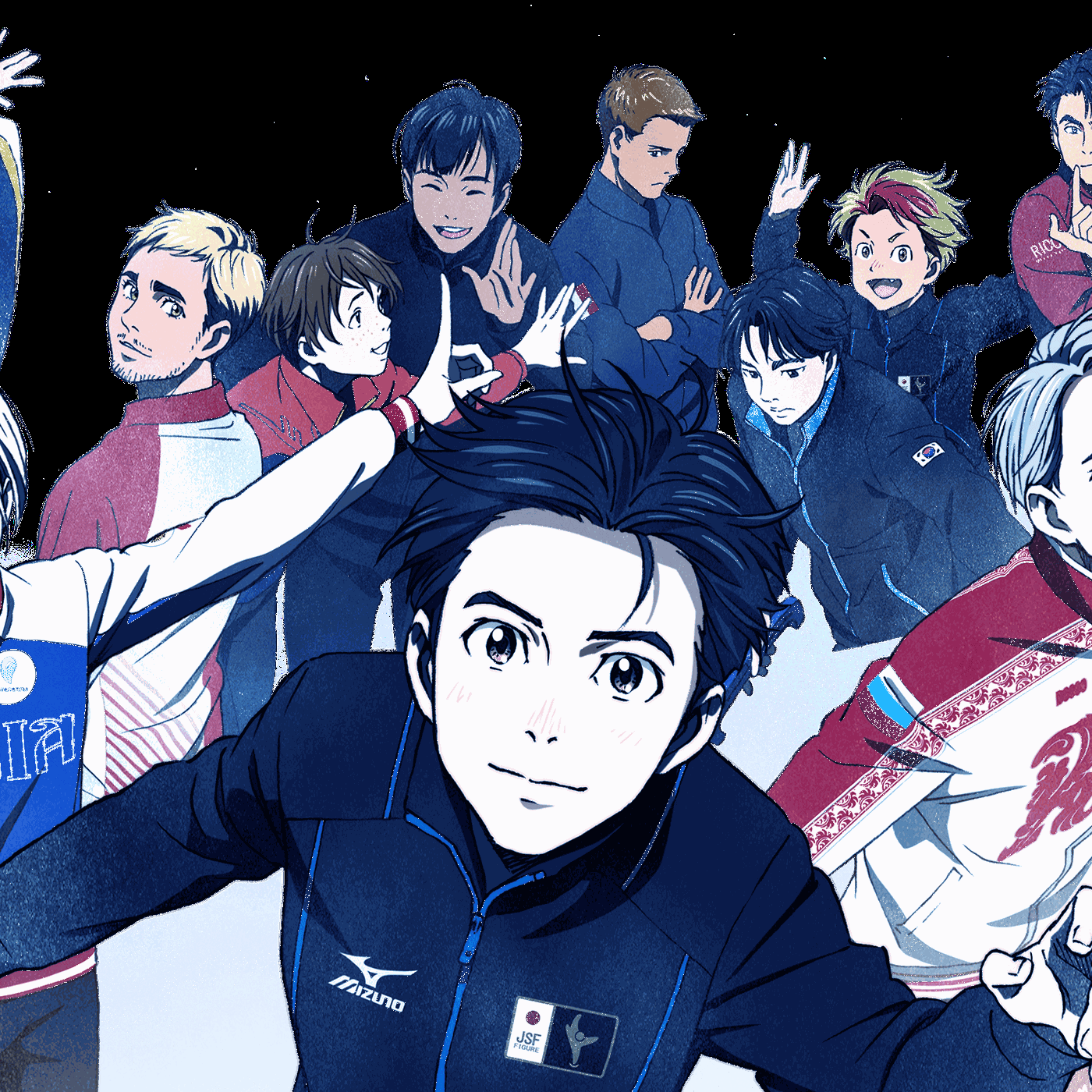 Yuri drawing easy. On ice everything you