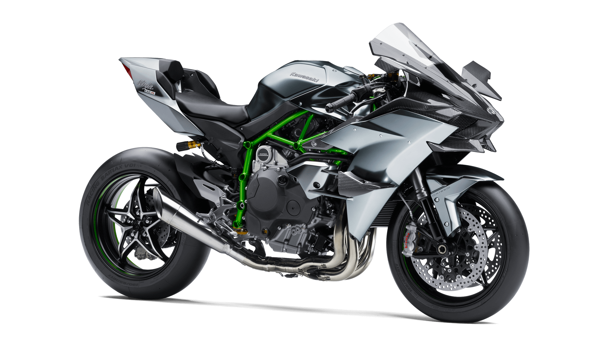 Drawing motorcycle side view. Ninja h r