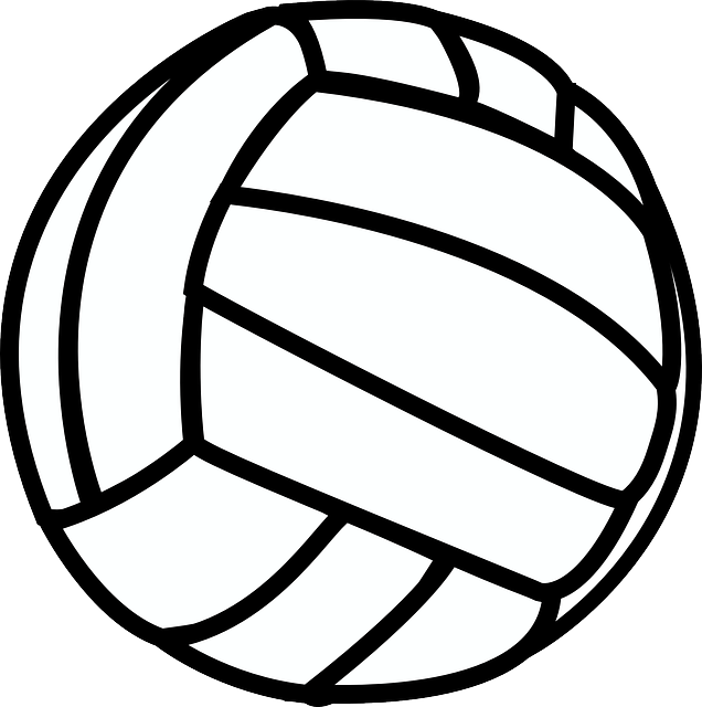 Drawing sports volleyball. Free image on pixabay
