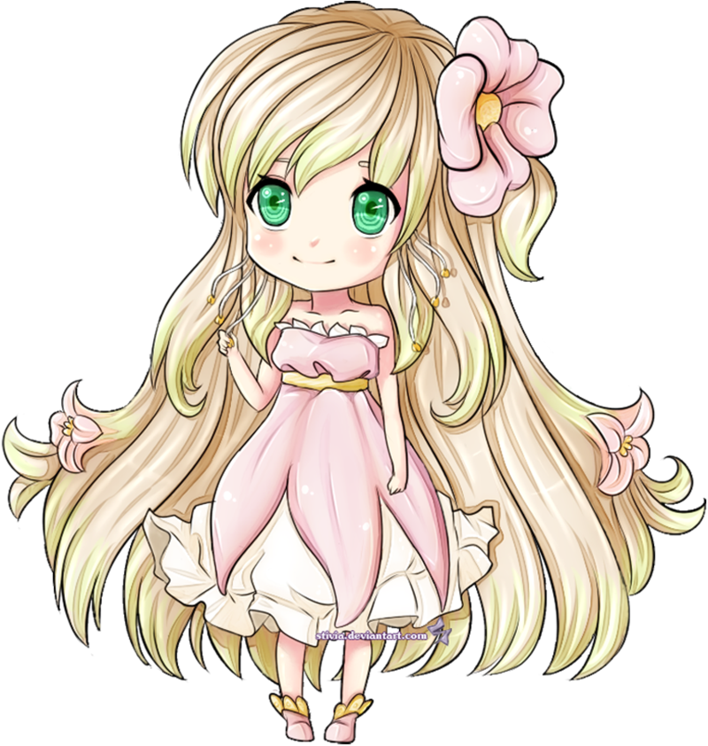 Drawing spring anime. Chibi by stivia on