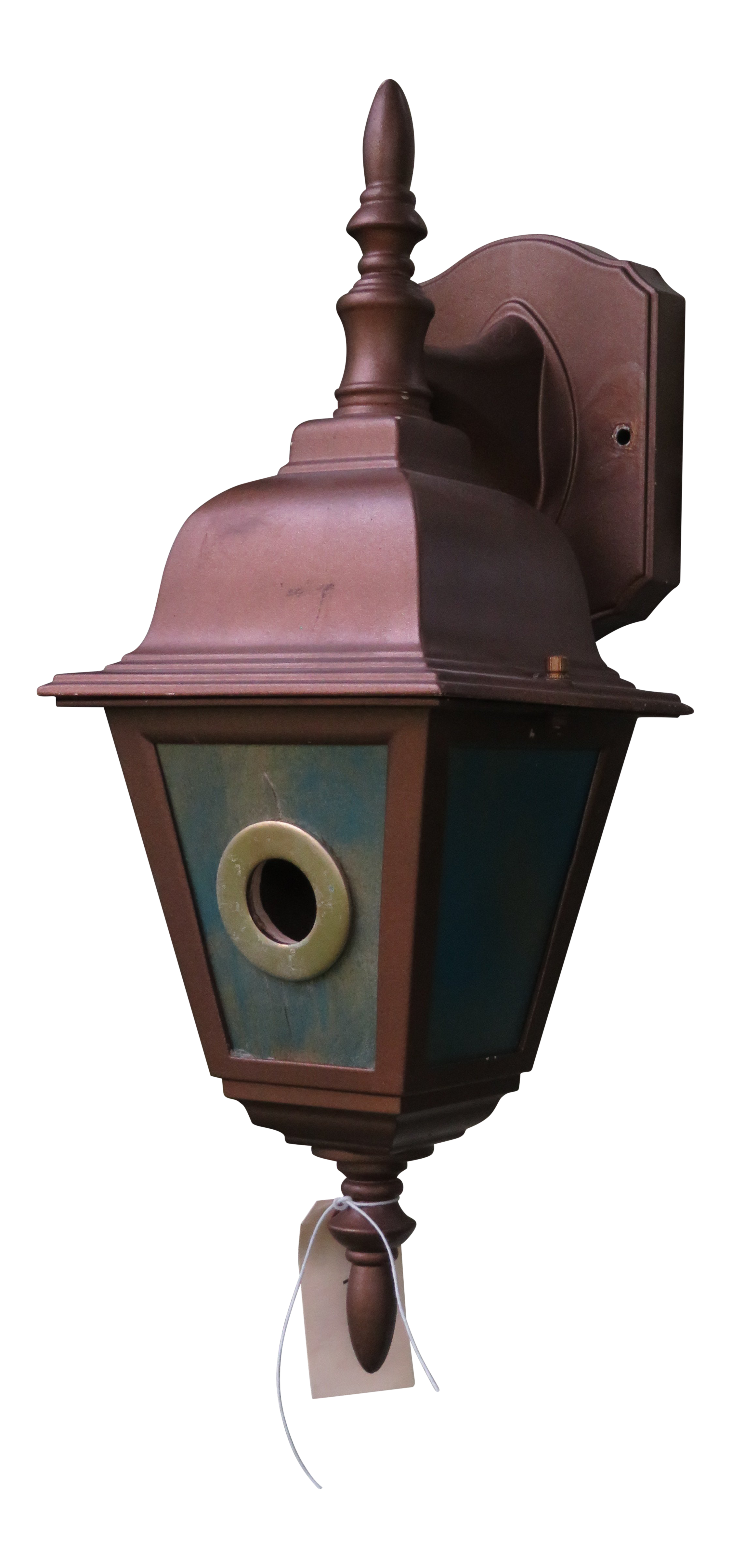 Drawing spring birdhouse. Bird house from a