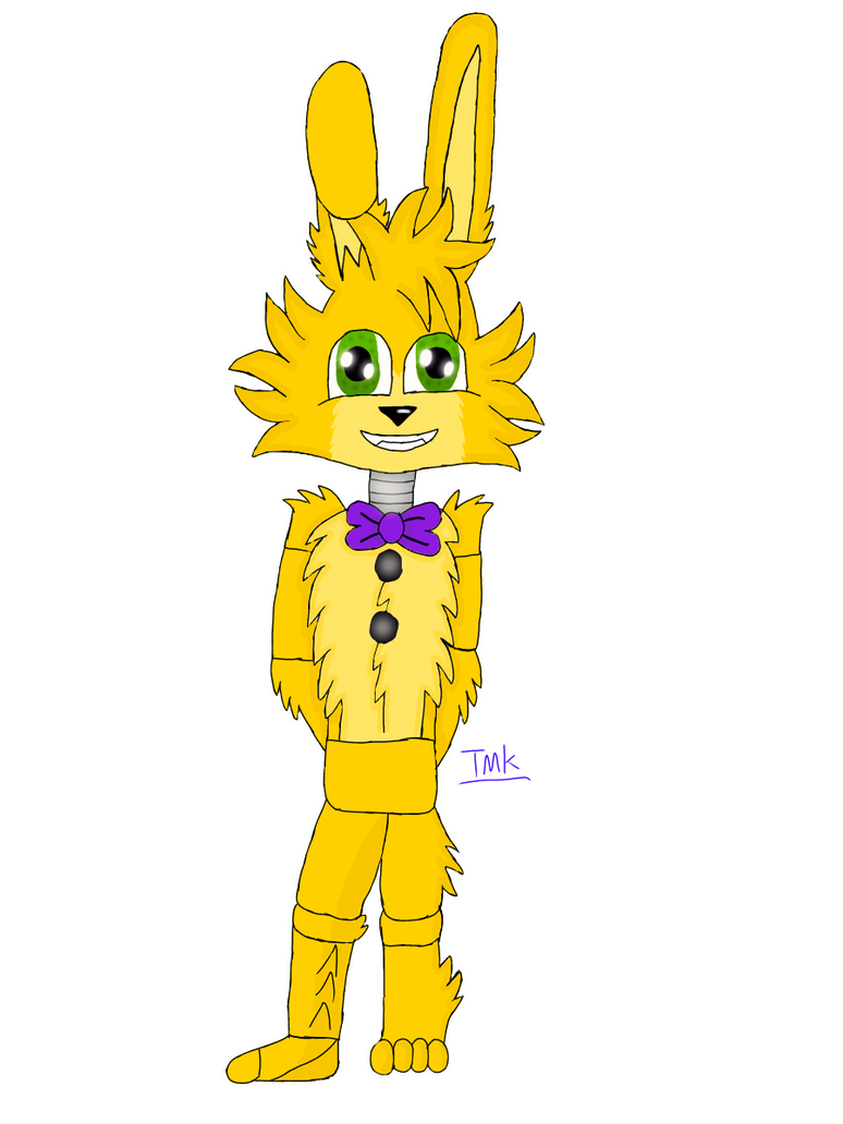 Drawing spring bonnie. By themagickans on deviantart