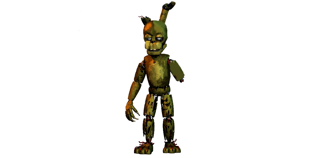 Drawing spring bonnie. V withered by salvagedspringtrap