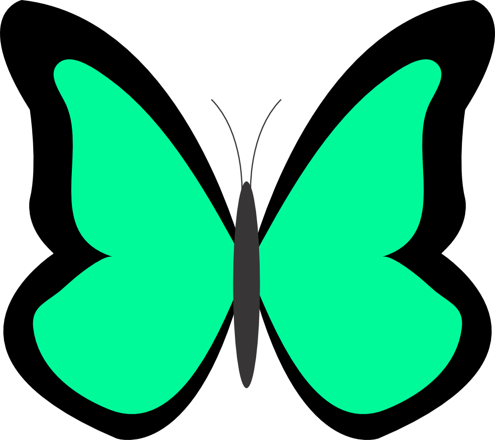 Drawing spring butterfly. Clipart panda free images
