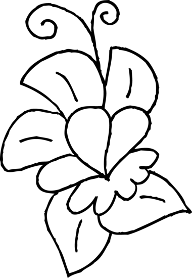 Drawing spring cute. Flower coloring page free