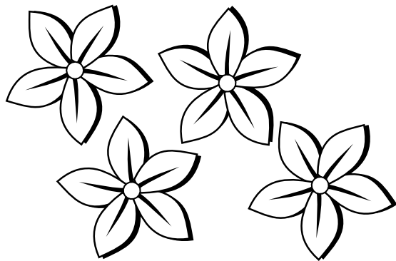 Drawing spring flower. Flowers clipart black and