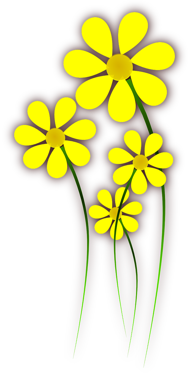 Drawing spring flower. Applique flowers how to