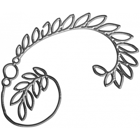 Drawing spring metal. Day element flower graphic