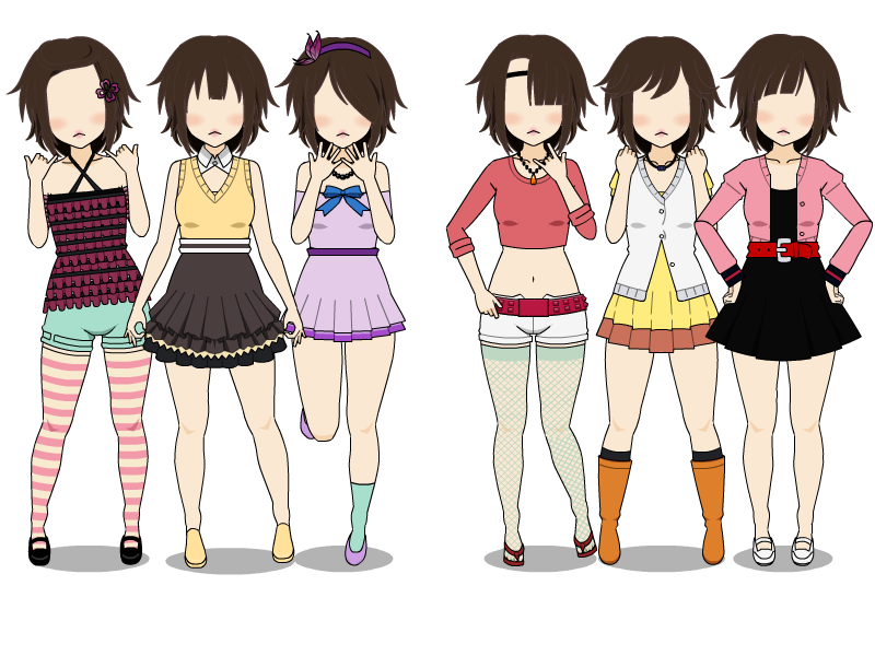 Drawing spring outfit. City girl casual outfits