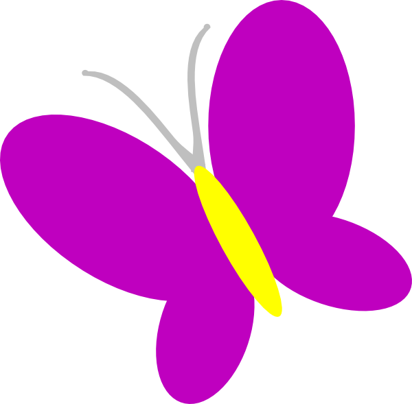 Drawing spring purple butterfly. Clip art at clker