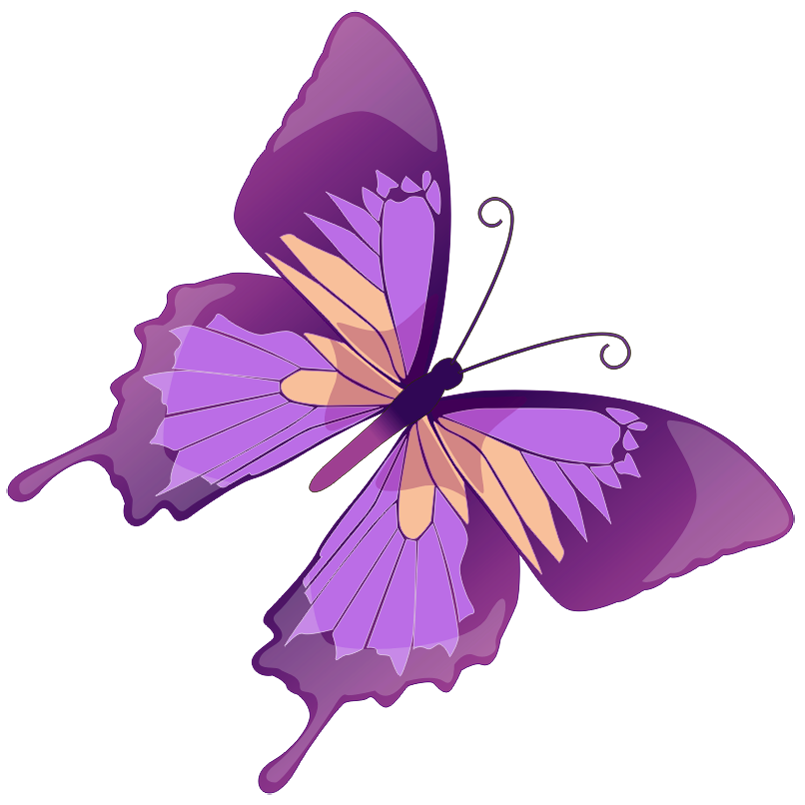 Drawing spring purple butterfly. Clip art free cliparts
